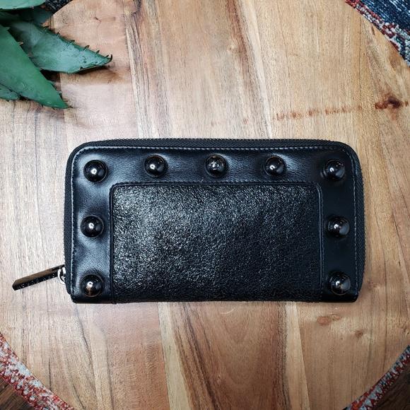 Tory Burch Handbags - Tory Burch Studded Black Wallet